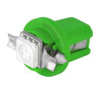 Автолампа диод B8,5 12V 1 SMD диодов BAX10D 1-конт Зеленая SKYWAY Приборная панель min10