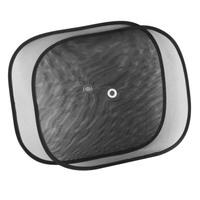 Шторка солнцезащитная экран 44*36 см на присосках черная на боковые стекла  SKYWAY 2 шт