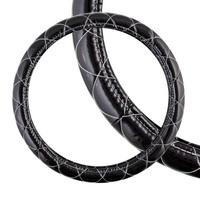 Оплетка SKYWAY Luxury-5 M Черная с белой прострочкой полиэстер