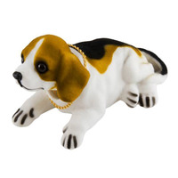 """Собака большая в машину с освежителем """"Ваниль""""  SKYWAY Бигль 16,5*8,5*9,5см"""