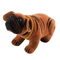 """Собака большая в машину с освежителем """"Ваниль""""  SKYWAY Шарпей коричневый 13*7,5*9,5см"""