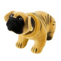 """Собака большая в машину с освежителем """"Лимон""""  SKYWAY Шарпей желтый 13*7,5*9,5см"""