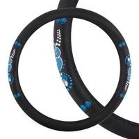 Оплетка SKYWAY Glamour-2 M Черно/синяя экокожа