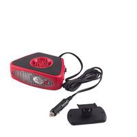 Тепловентилятор 12V  SKYWAY в прикуриватель с фонарем черно-красный