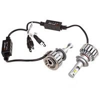 Автолампа-LED (аналог ксенона) H7(C6) 12/24V 25W 6000K 4000Lm 1-конт SKYWAY комп.2 шт  радиатор+вентилятор охл