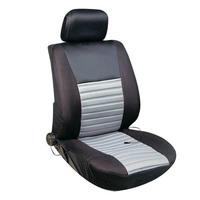 Чехлы сиденья с подогревом полиэстер  SKYWAY с терморегулятором (2 режима) Черно\Серый 12V 116х56см 2,5А-3А  (2 шнура: справа, слева)