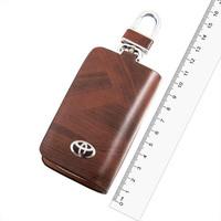 Ключница кожаная  SW под дерево, с молнией Toyota