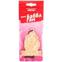 Ароматизатор подвесной деревянный  SKYWAY Медведь RUSSIA Баббл гам