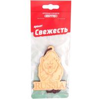 Ароматизатор подвесной деревянный  SKYWAY Медведь RUSSIA Свежесть