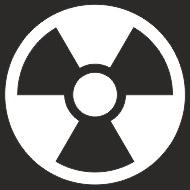 Наклейка БЛИКЕР термо плоттер Знак радиации (50х50) цвет серебро (упак 1шт) SKYWAY