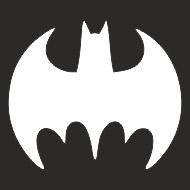 Наклейка БЛИКЕР термо плоттер Знак Бетмена (50х50) цвет серебро (упак 1шт) SKYWAY