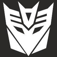 Наклейка БЛИКЕР термо плоттер Десептикон (50х50) цвет серебро (упак 1шт) SKYWAY