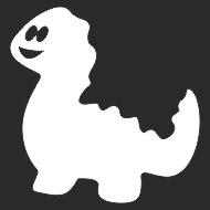 Наклейка БЛИКЕР термо плоттер Динозаврик (50х50) цвет серебро (упак 1шт) SKYWAY
