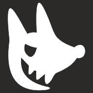 Наклейка БЛИКЕР термо плоттер Волк (50х50) цвет серебро (упак 1шт) SKYWAY