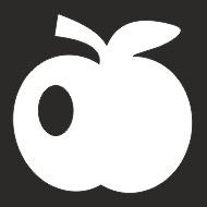 Наклейка БЛИКЕР термо плоттер Яблоко светоотр (50х50) цвет серебро (упак 1шт) SKYWAY
