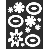 Наклейка БЛИКЕР термо плоттер Кляксы светоотр.(150х200) цвет серебро (упак 1шт) SKYWAY