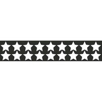 Наклейка БЛИКЕР термо плоттер Звездочки светоотр.(50х250) цвет серебро (упак 1шт) SKYWAY