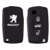 Чехол на ключ автомобильный SW силиконовый PEUGEOT(307/408 /407/607)3 кнопки