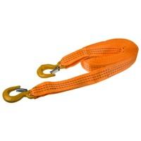 Трос ленточный  4т 5м 2 крюка (ширина 35мм) SKYWAY усиленный оранжевый