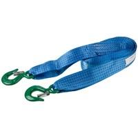 Трос ленточный  5т 5м 2 крюка (ширина 50мм) SKYWAY усиленный синий