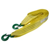 Трос ленточный  7т 5м 2 крюка (ширина 75мм) SKYWAY усиленный желтый