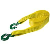 Трос ленточный  7т 8м 2 крюка (ширина 75мм) SKYWAY усиленный желтый