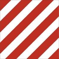 """Наклейка на груз. машины """"Крупногабаритный груз"""" ГОСТ (400*400) цвет красный/белый (уп. 1 шт) SKYWAY"""
