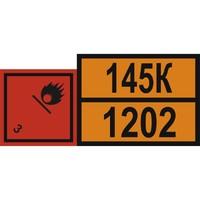 """Наклейка на груз. машины """"Опасный груз"""" ГОСТ (300*690) 1202 диз. топливо (уп. 1 шт) SKYWAY"""