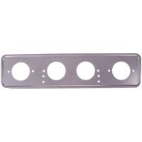 Рамка для номера металл под болт серебро с порошковым покрытием без надписи SKYWAY 1шт