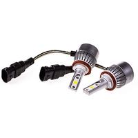 Автолампа-LED (аналог ксенона) H11(C6) 12/24V 26W 6000K 4000Lm 1-конт SKYWAY комп.2 шт  радиатор+вентилятор охл