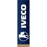 Вымпел прямоугольный IVECO С ЛОГО фон синий (200х55) цветной (1шт) SKYWAY