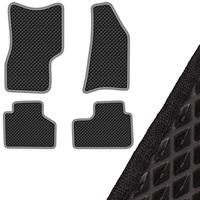 Коврик салона SKYWAY ВАЗ 2123 CHEVROLET-NIVA (1998 г.в) левый руль 4 пр. EVA Черный (49х77, 41х80, 51х40, 46х41)