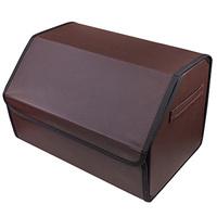 Органайзер в багажник SKYWAY CLASSIC 49*30*30см экокожа перф. Коричневый