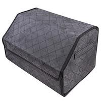 Органайзер в багажник SKYWAY EXPENSIV 49*30*30см Алькантара Серый, строчка черная