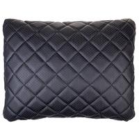 Подушка на сиденье SKYWAY экокожа перф. Черная (строчка Черная)