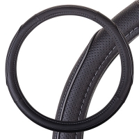 Оплетка SKYWAY Combo-14 M Черно/серая экокожа