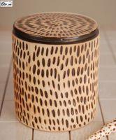 """Стакан керамический для ваты """"ORINOKO""""Арт.AS.OR.POJ"""