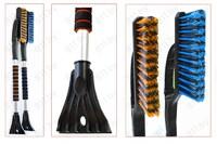 """Щетка для снега со скребком """"ToM-PaR"""" Nice Touch 75 см, мягкая ручка, цвет в ассорт. /10"""