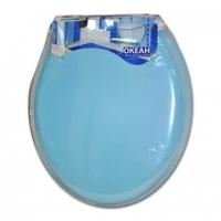 Крышка для унитаза мягкая голубая