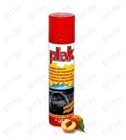 """Полироль салона """"PLAK"""" 200 мл, персик, аэрозоль /24"""