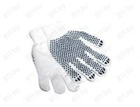 Перчатки нейлоновые с ПВХ, белые, 22 см /уп-10/200