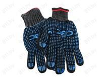 Перчатки нейлоновые с ПВХ, черные, 23 см /уп-10/200