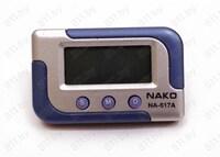 """Часы автомобильные """"NAKO"""" NA-617А серебристые, с будильником /200"""