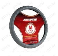 Оплетка рулевого колеса AUTOPROFI (M) AP-265 D.GY т.-серая, ребристая, кожа /20