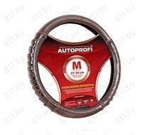 """Оплетка рулевого колеса AUTOPROFI (M) AP-770 BR коричневая, """"гармошка"""", барсеточная, кожа /20"""