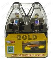 """Лампа 12 В, Н3, 100 Вт, """"AUTOBRITE"""" GOLD 5/100"""