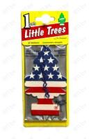 "Ароматизатор ""CAR FRESHNER"" бумажный ""Елочка"" 10945 американский флаг /блок 24/144"