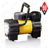 "Компрессор ""КАЧОК"" К90, 35 л/мин, 10 Атм, LED в сумке, металл. корпус, 12A, 12V /8"