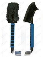 """Щетка для мытья """"Black&Blue"""" ВВ534 для труднодоступных мест, поролоновая ручка, 40 см (39783) /12"""