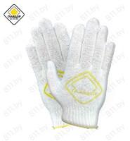 "Перчатки х/б из 4-х ниток, хлопок с ПВХ ""ГЛАВДОР"" GL-106 белые, 23 см /уп-10/200"
